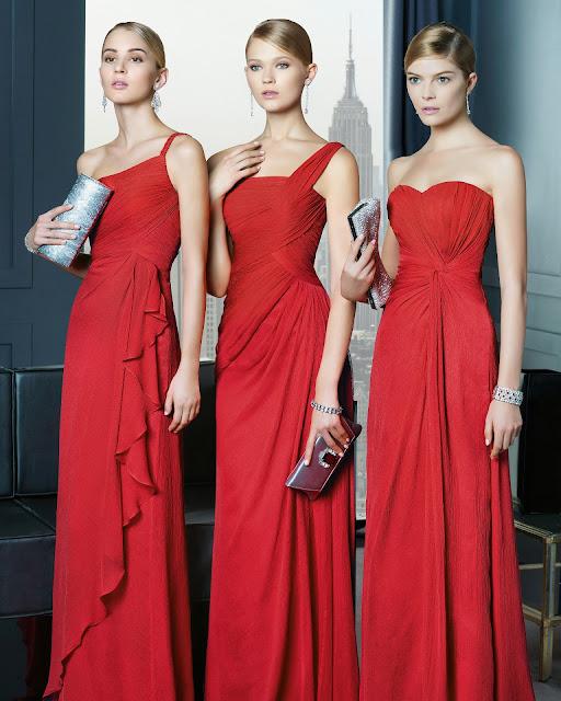 kırmızı dökümlü uzun abiye modeli, tek omuz ve straplez seçenekli
