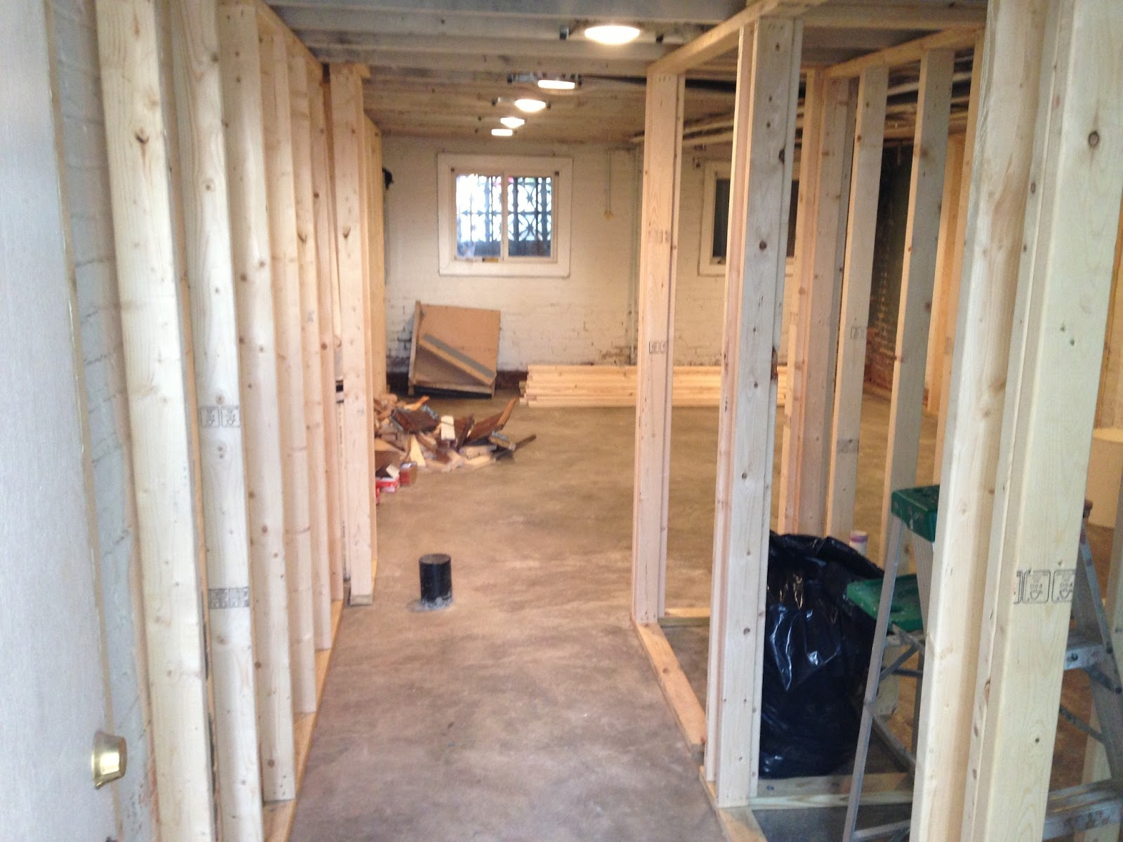 Petworth Row House: The Framing Begins