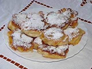 Tortitas de manzana (Racuchy z jablkami)