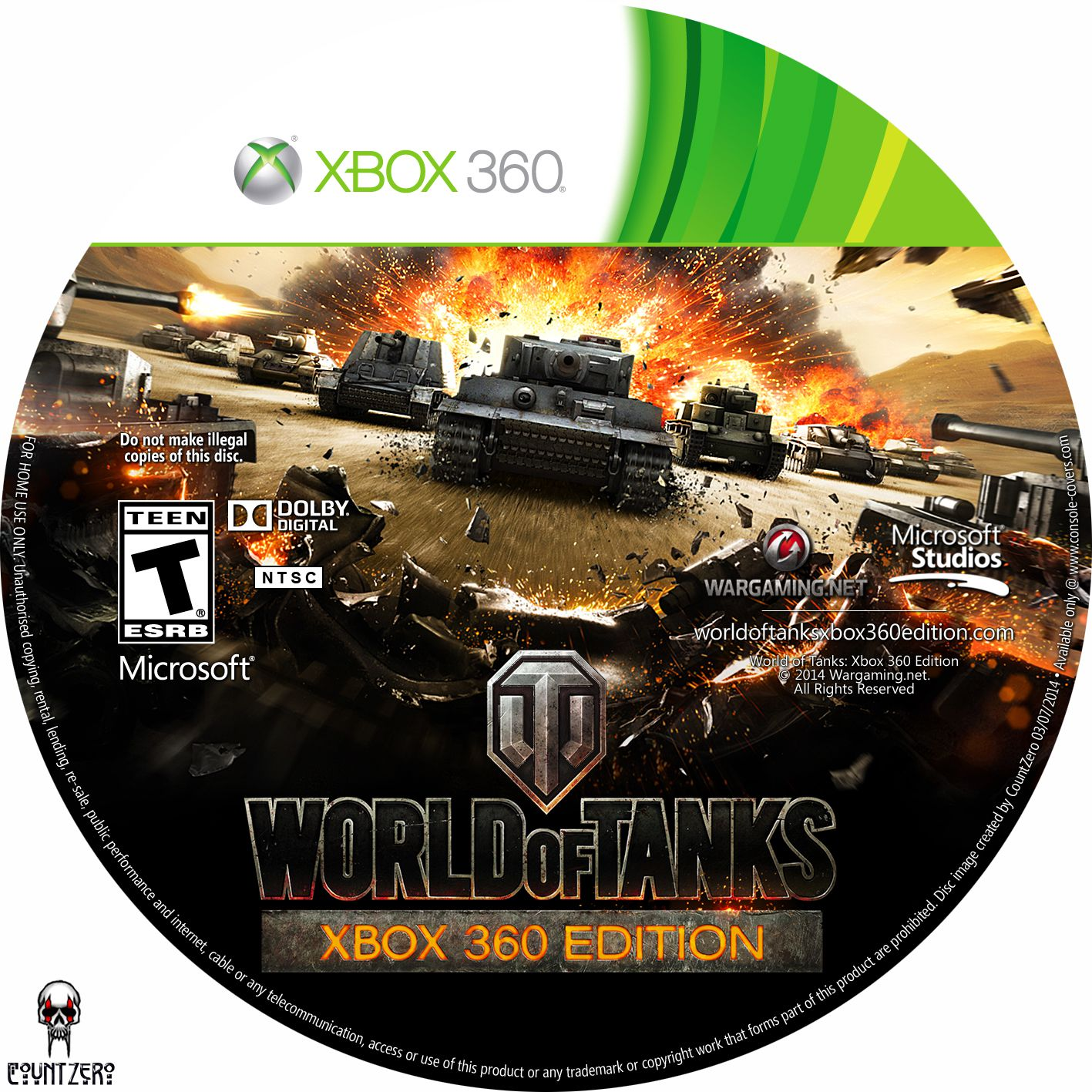 Label World Of Tanks Xbox 360 Edition