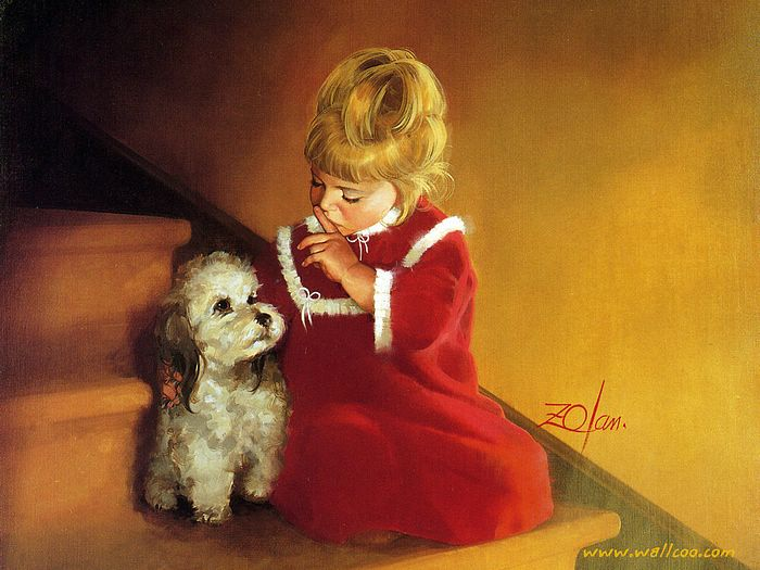childrens wallpapers. Free Wallpapers: Oil Paintings