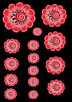 Шаблоны цветы для скрапбукинга.