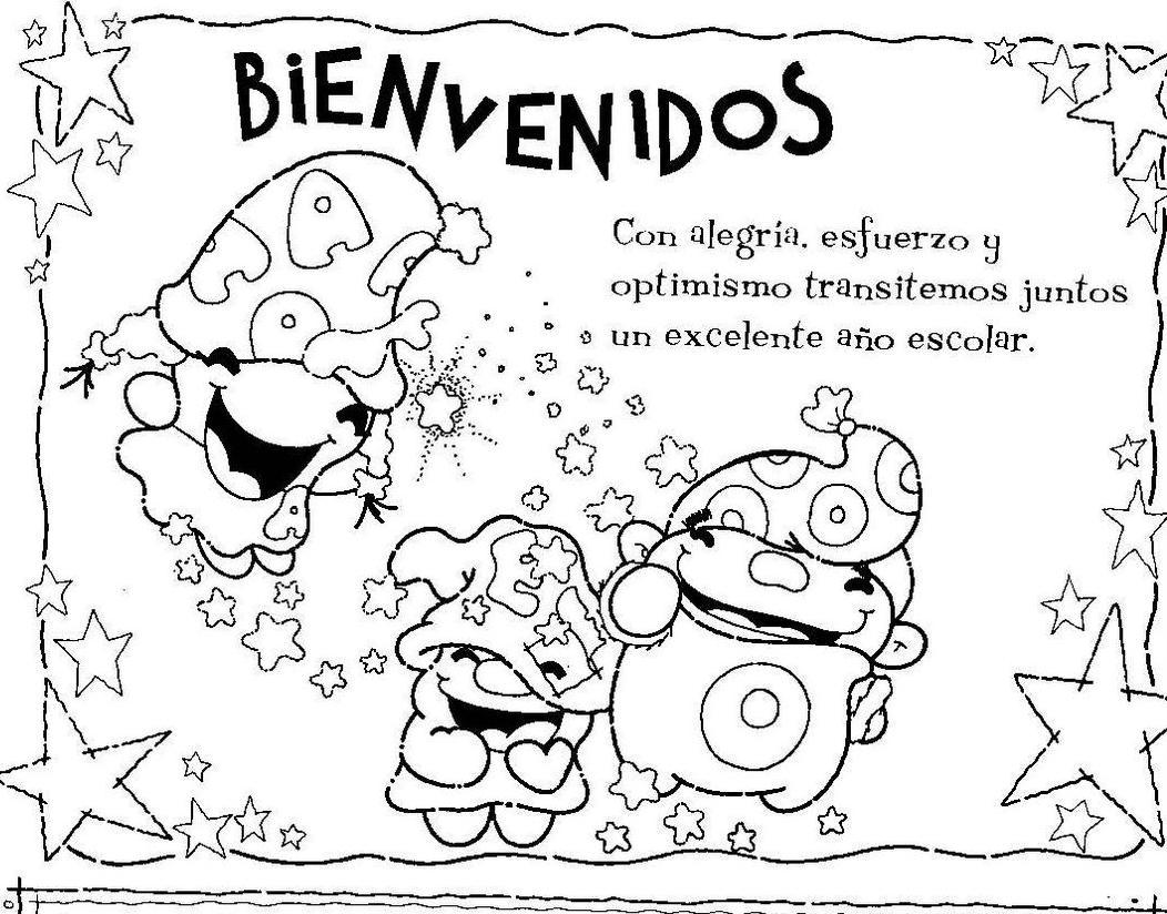 Lujo Colorear De Regreso A La Escuela Friso - Dibujos Para Colorear ...