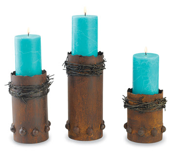 recycled candlesticks decoration