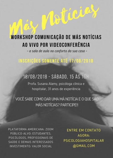 Comunicação de Más Notícias curso online por videoconferência