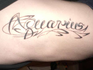 Aquarius Tattoo Design Photo Gallery - Aquarius Tattoo Ideas