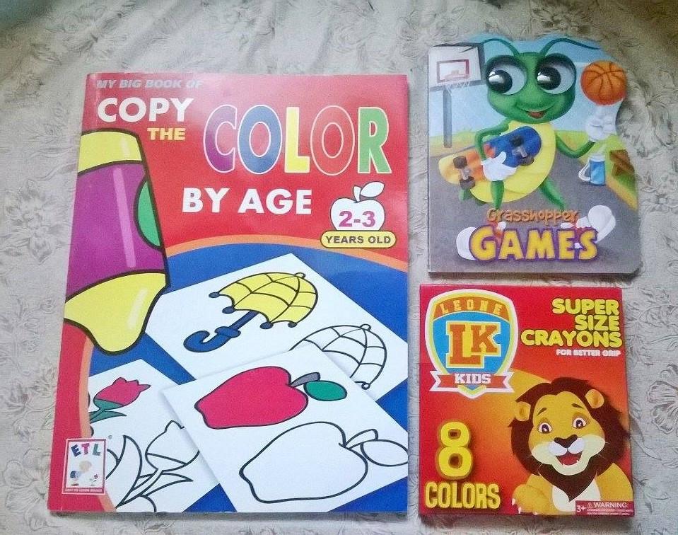 Coloring Book For P75 Grasshopper Games P60 Super Size Crayon P86