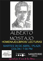 Homenaje a Alberto Mostajo