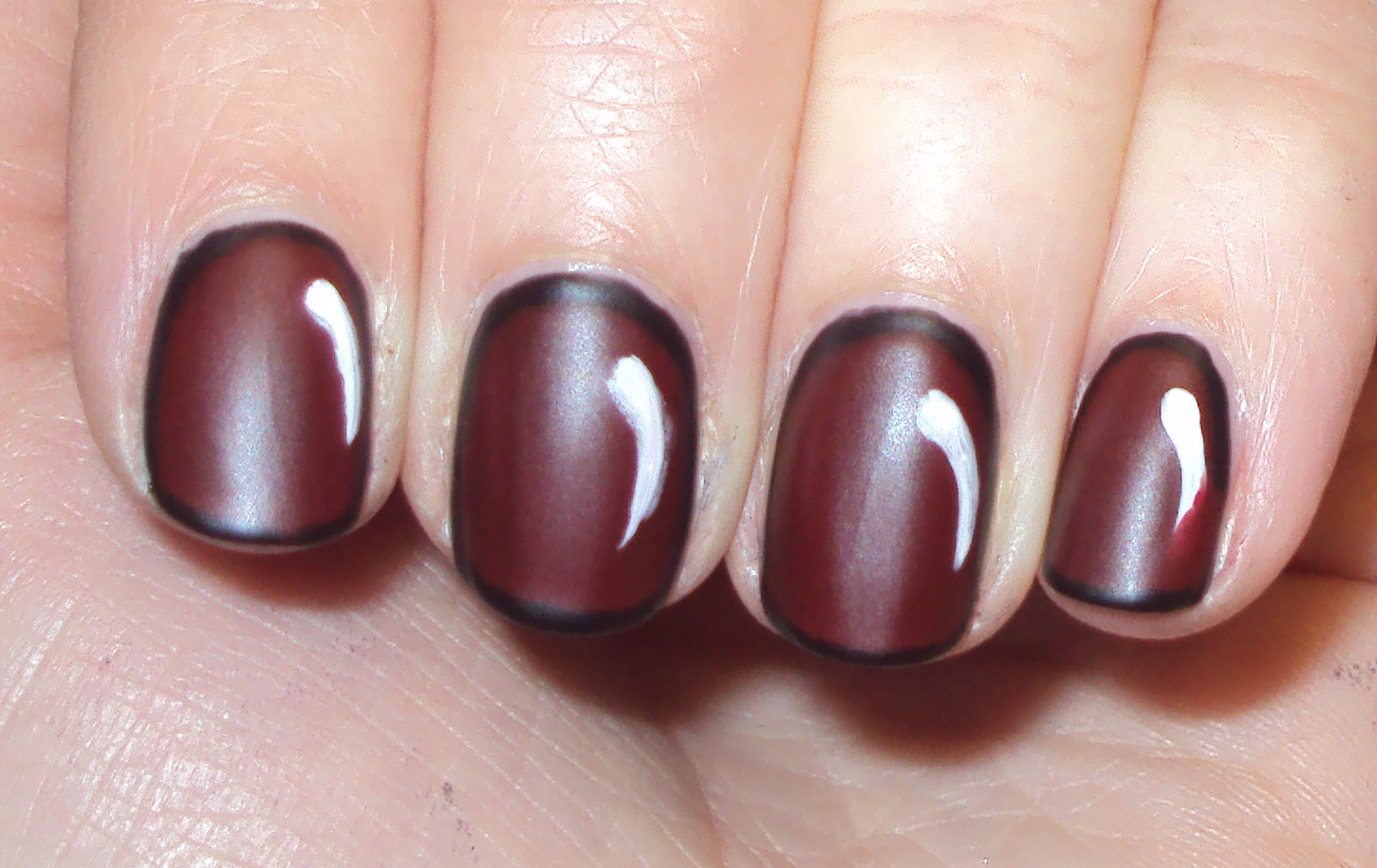 Then Taking A White Nail Art Polish I Painted Swipe To Look Like The Comic Book Light Effect Nails Were Given Matte Top Coat And Whammo