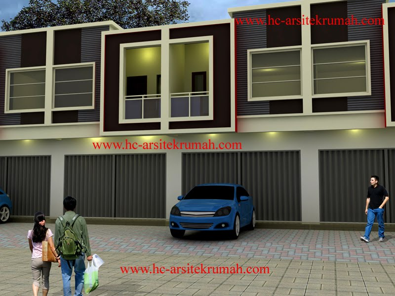 contoh gambar model ruko minimalis 2 lantai modern kamar