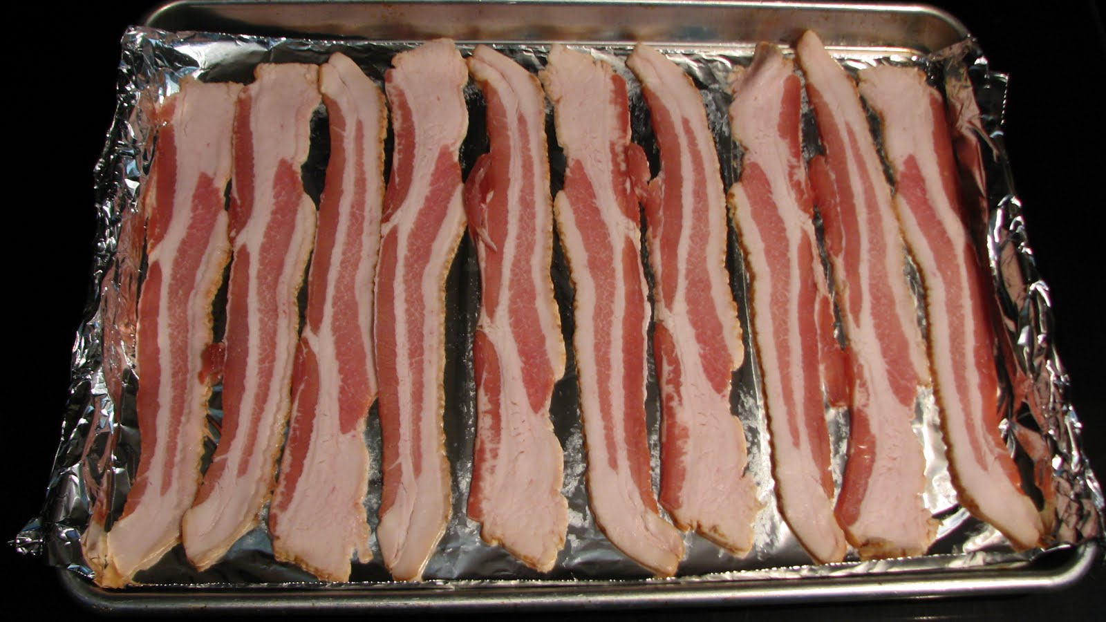 Place The Baking Sheet In The Cold Oven Set The Oven To 425 Degrees And  Allow The Bacon To Cook While It Heats When Our Oven Reaches 425 Degrees,