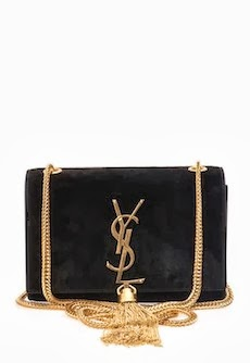 SAINT LAURENT Cassandre suede bag