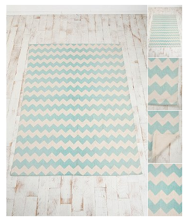 O Turquoise Chevron Rug From Urban Outers. Lovely June Design Co Putting  Together A Room