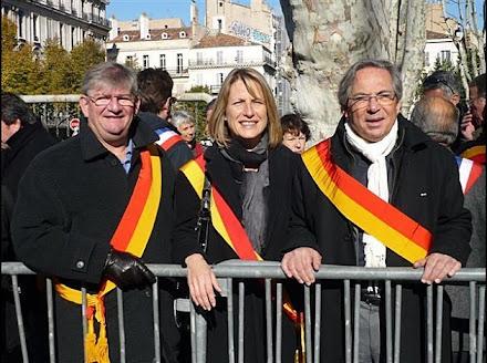 avec les élus Front de Gauche de la région, Nathalie LEFEBVRE et Jacques LERICHOMME