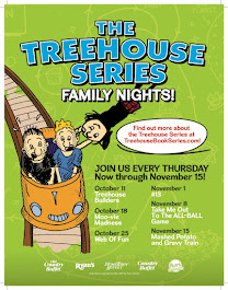GIVEAWAY: WIN Meal Passes for 4 and 2 Treehouse Series Books