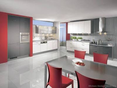 Red kitchen decor, red and black kitchen decor, red kitchen ideas for decorating, red kitchen decorations