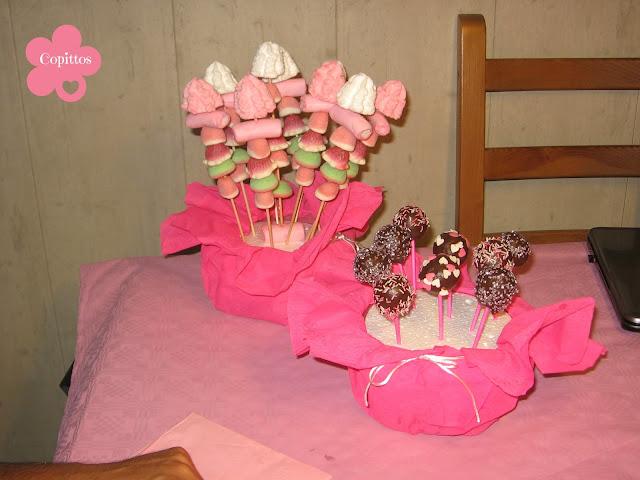 Copittos rosa y m s rosa for Pinchos de gominolas