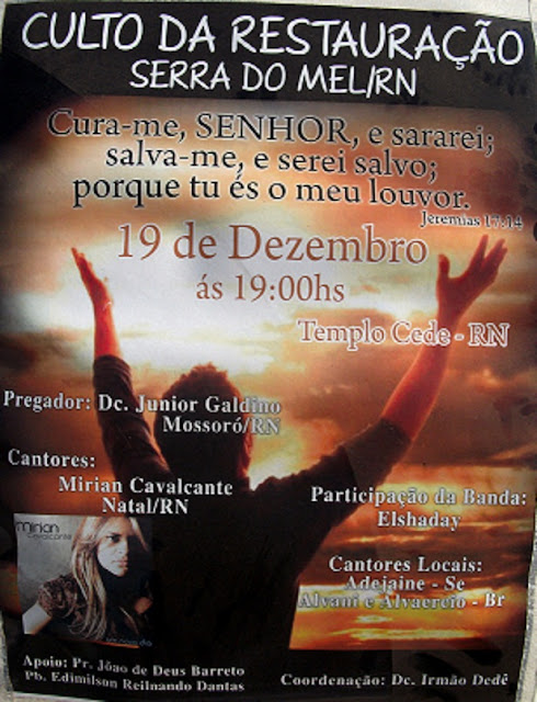 ULTIMO CULTO DE RESTAURAÇÃO DO ANO