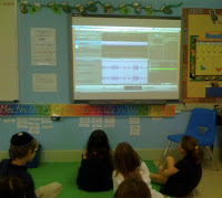 students using garage band