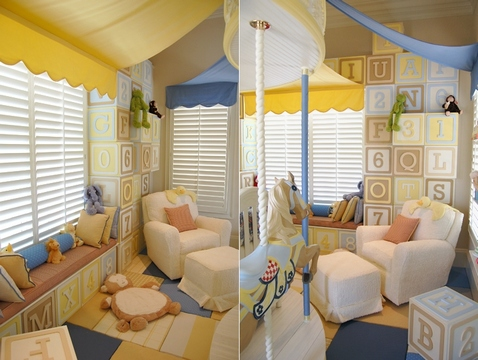 [Play zone of this creative kids room]