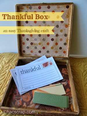 Thankful Gratitude Box for Your Thanksgiving Celebration