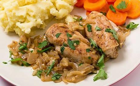 Pechugas de pollo en salsa de almendras