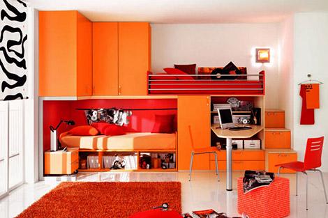 ـأحبڪْ } . . ڪِثرِ مآصُۆِتڪْ يَخدرِنيٌےً ۆ ِأدمَنتہ..! Orange-modern-Kids-Room-designs2