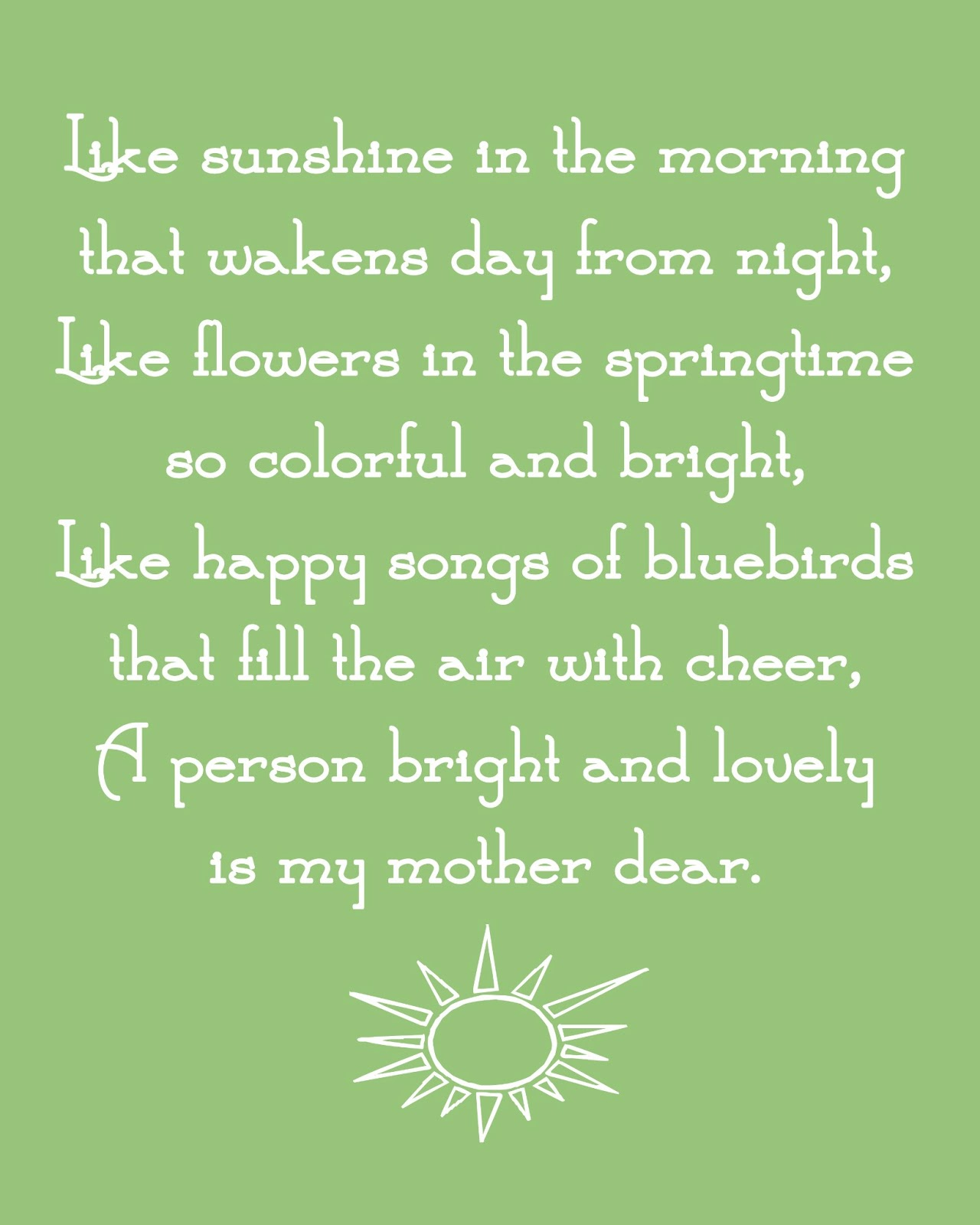 Bitty Birdie Design Co.: Mother\'s Day Poems - {Free} High Resolution ...
