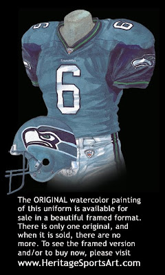 Seattle Seahawks 2002 home uniform