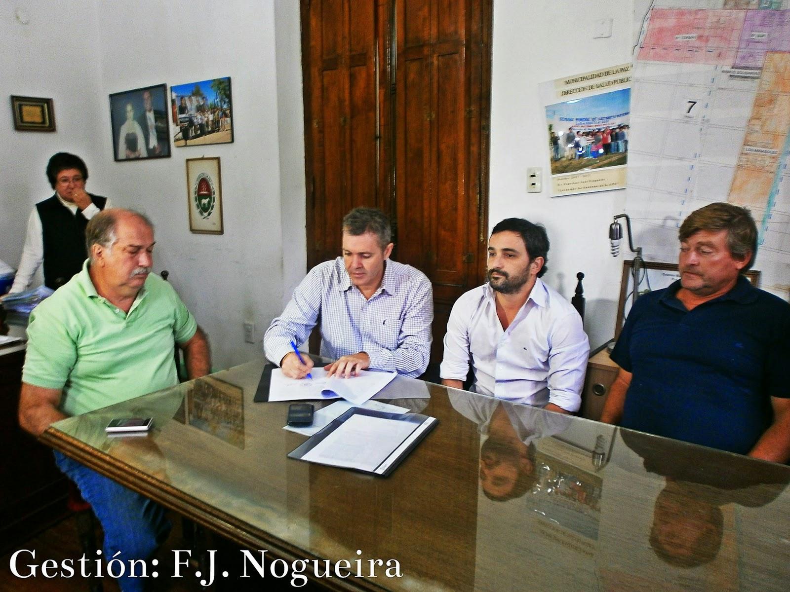 Se firmó un convenio entre el Municipio de La Paz y el Sindicato de Camioneros de nuestra ciudad