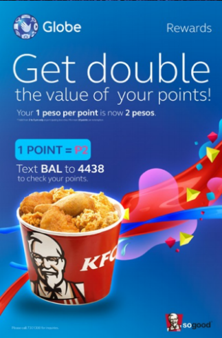 Globe Rewards Points Double Value x2