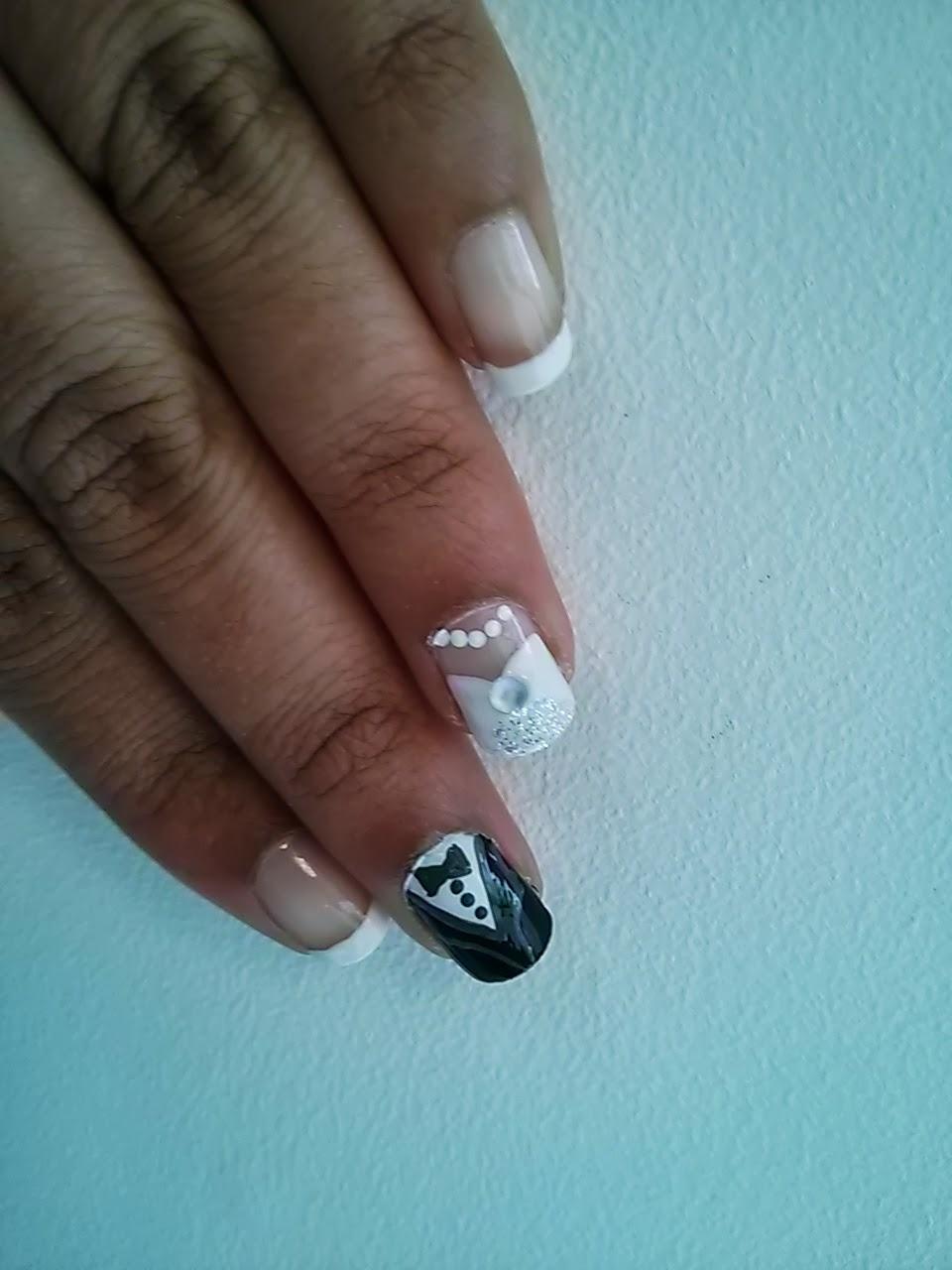 Bride & Groom Wedding Nails | Nail Art by Lena