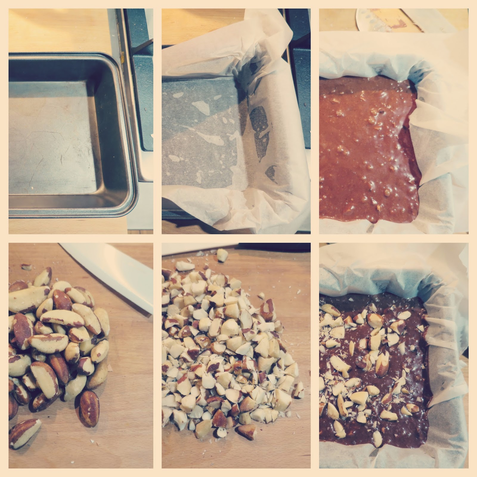 preparazione 3 brownies vegan