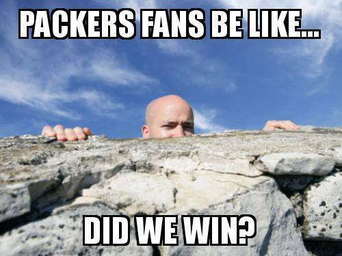 packers fans be like... did we win?.- #packers #nfl #packershaters
