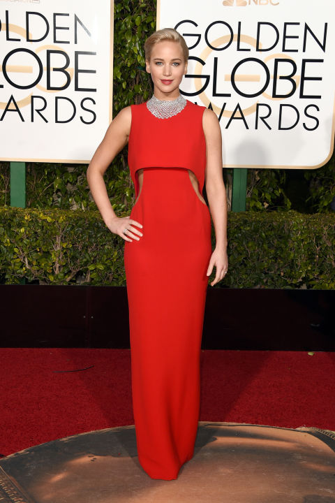 Golden Globes Jennifer Lawrence Christian Dior