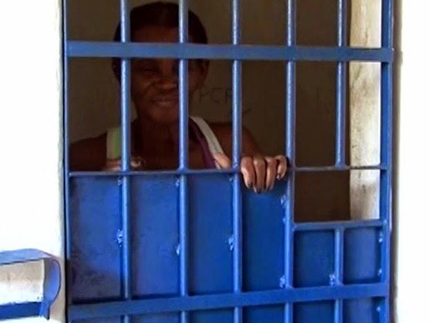 Benedita Conceição dos Santos está presa desde terça-feira (17) em Posto da Mata (Foto: Reprodução / TV Santa Cruz)