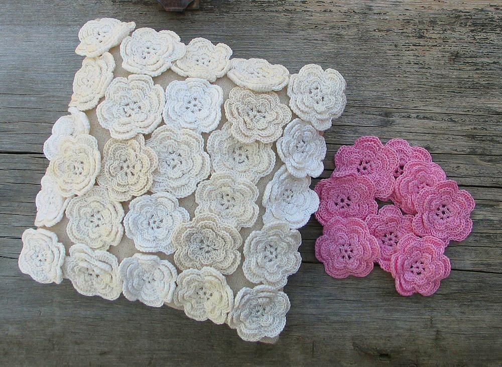 Wild Rose Vintage Crochet Flower Pillow And Yard Sale Treasures