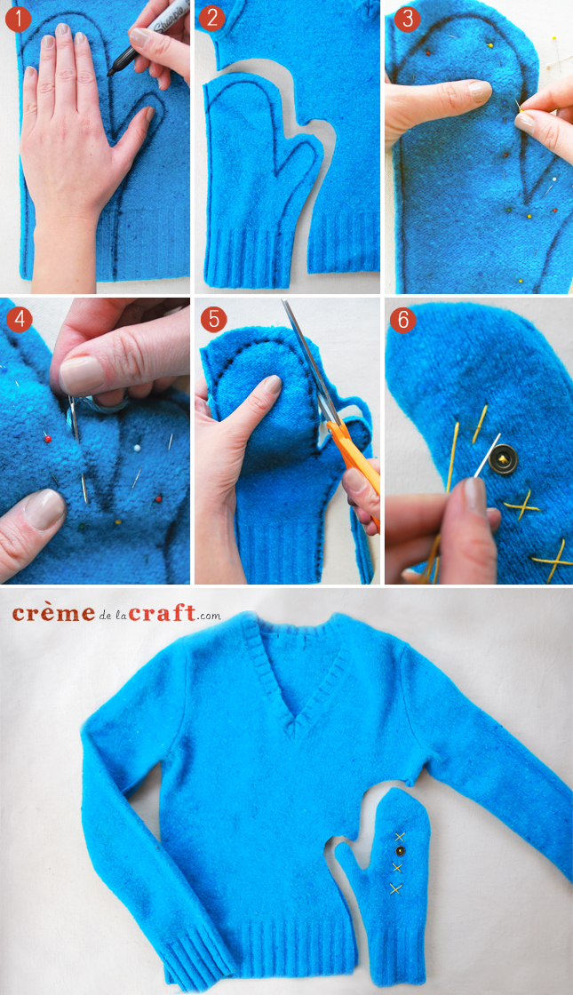 Diy Mittens From Old Sweaters