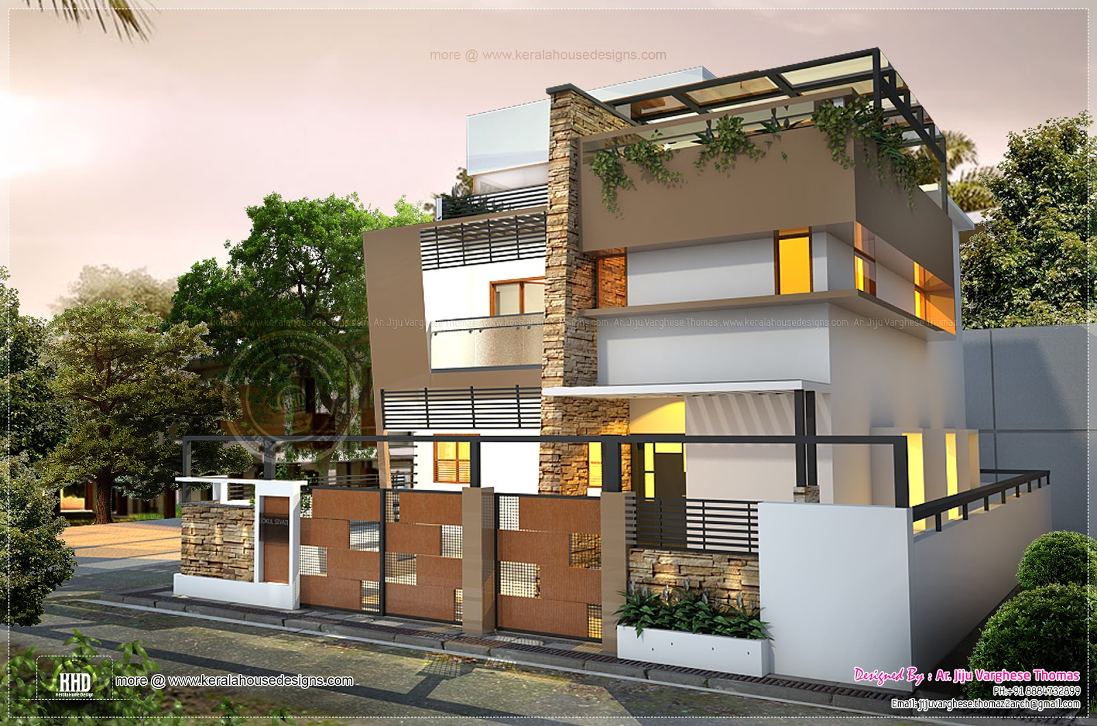 Awesome contemporary residence in 2000 house for Modern square house plans