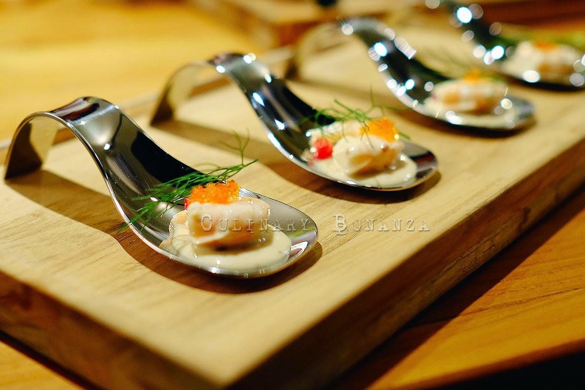 Gambita con Salsa Japonesa Amusé