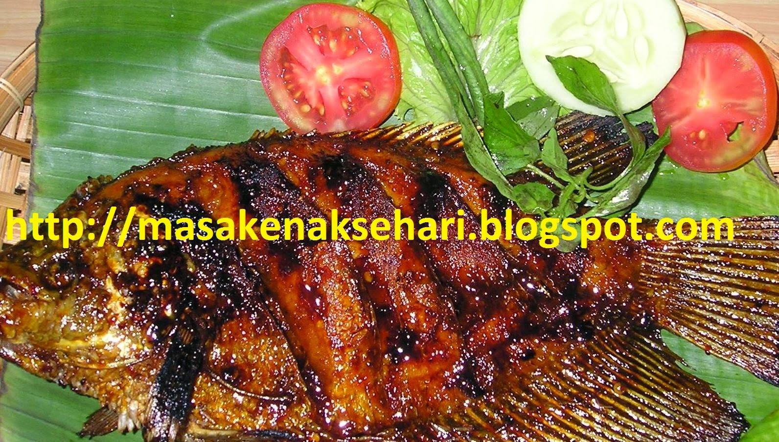 ikan nila bakar pedas