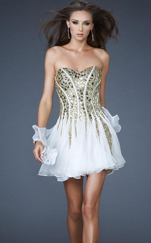 Homecoming Dazlling Prom Dresses 2013 Sparkling A Line Strapless