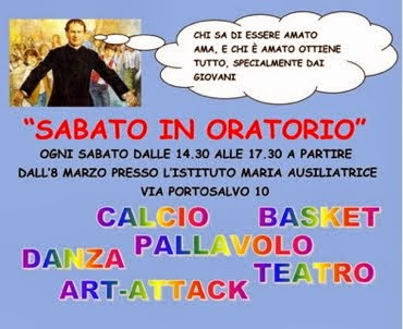 Venite Sabato In Oratorio!