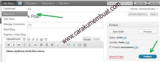membuat posting di wordpress
