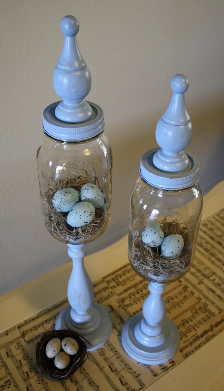 Spring Primitive Apothecary Jars