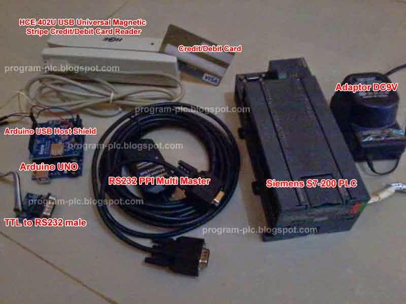 Hardware of Credit Debit Card Reader On PLC