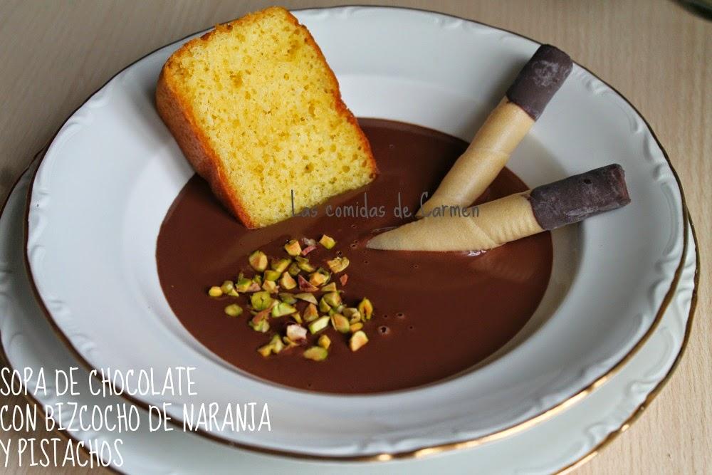 LAS COMIDAS DE CARMEN: SOPA DE CHOCOLATE NEGRO