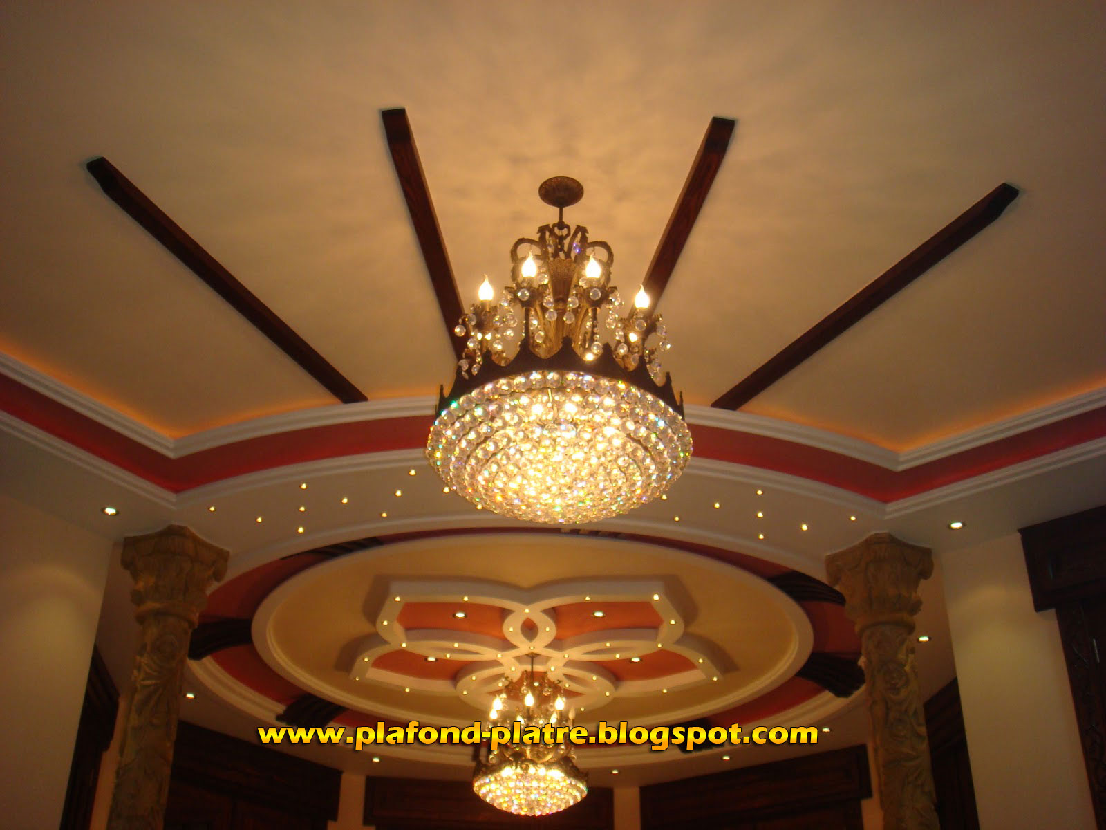Decoration plafond platre design maroc for Decor de platre 2015