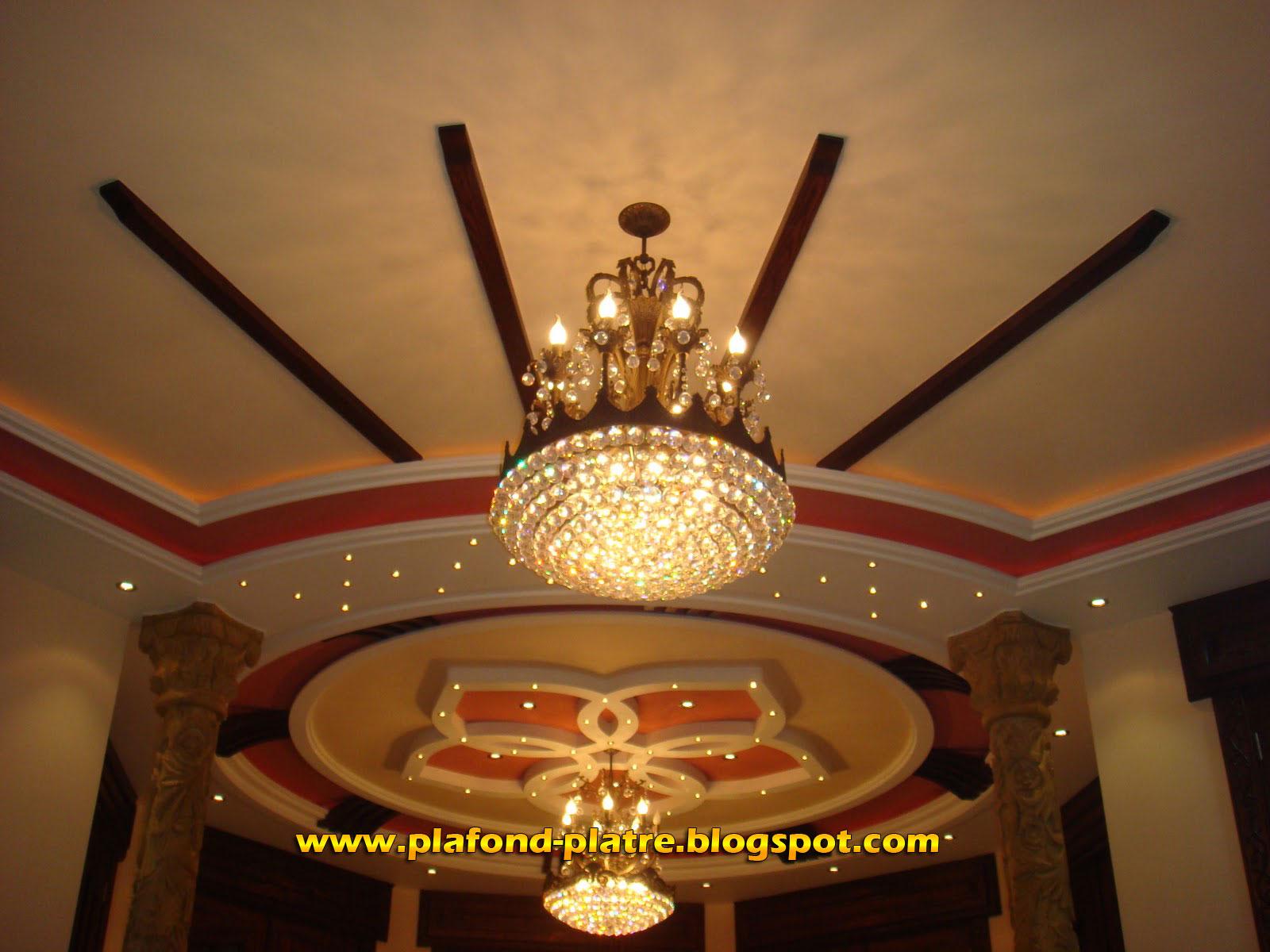 Decoration plafond platre design maroc for Dicor platre 2015