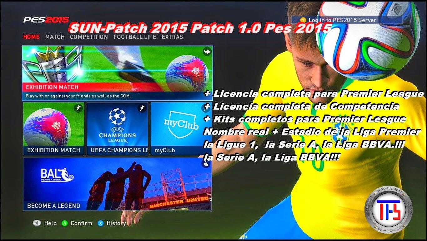 portada de Parche Pes 2015 SUN-Patch 2015 Patch 1.0 + BonusPack de 100 bonitnes [Mega]
